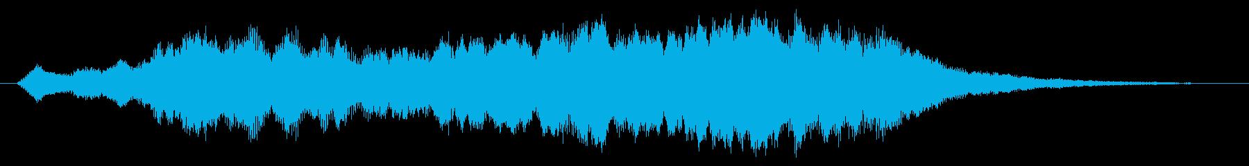 パソコンの起動音風パッドの再生済みの波形