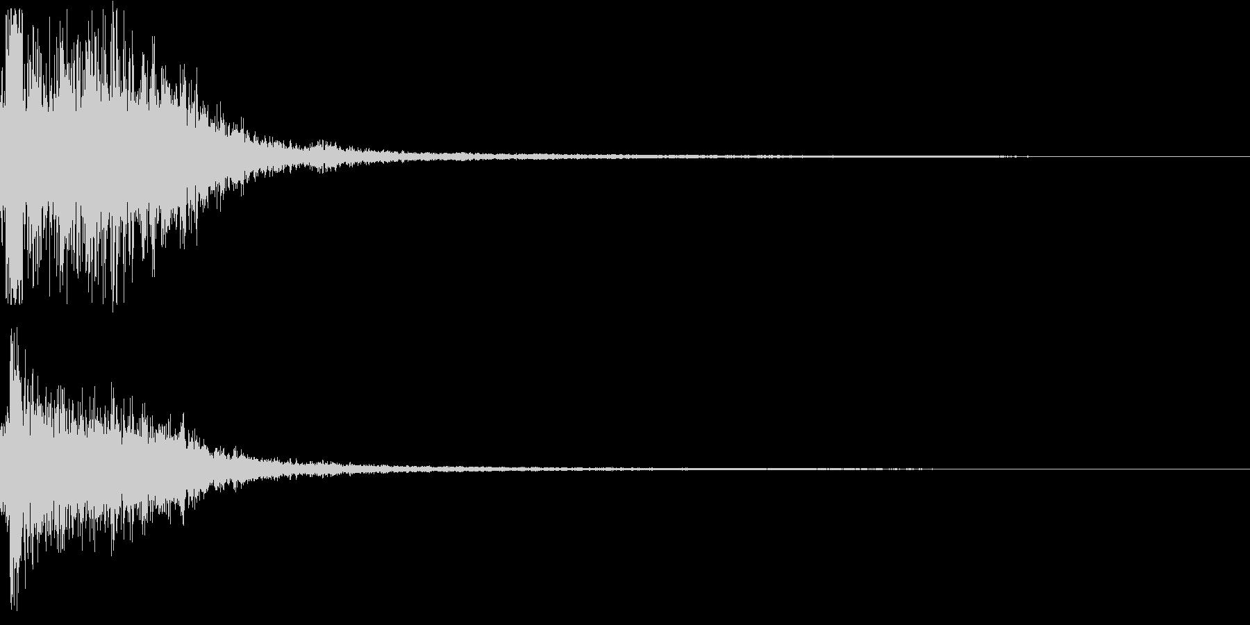 衝撃音なSFX_01の未再生の波形