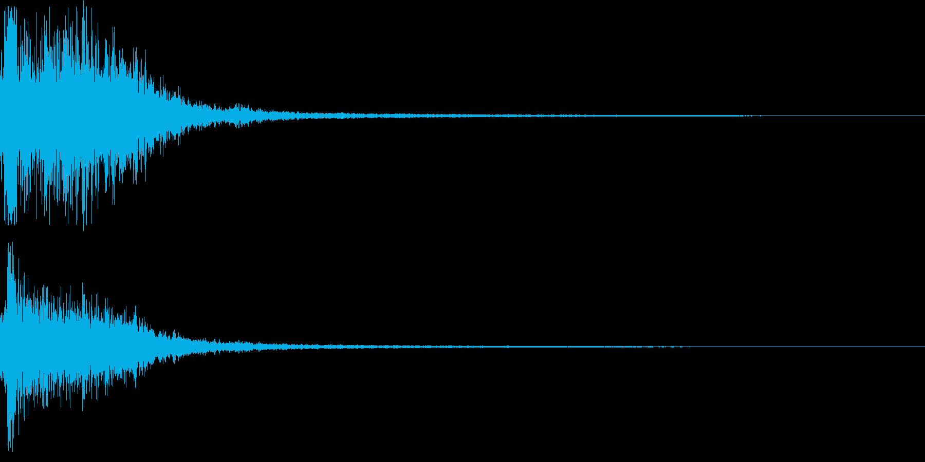 衝撃音なSFX_01の再生済みの波形