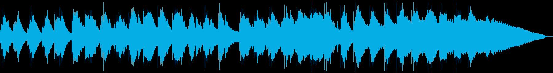 夏のアンビエント、ヒーリング、ガムラン風の再生済みの波形