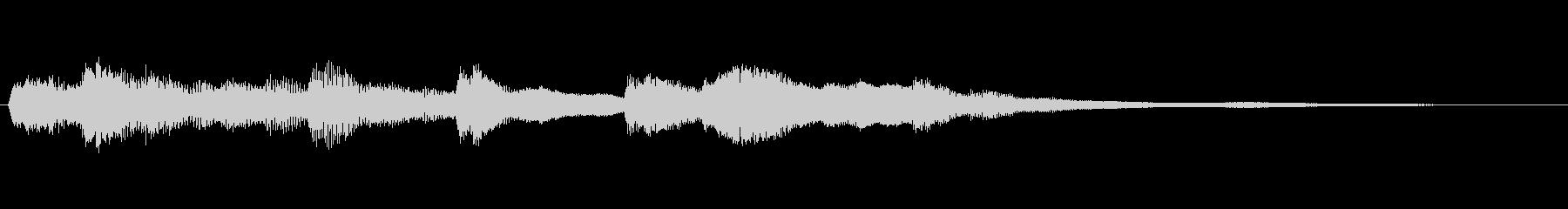 やさしい雰囲気のピアノのジングルの未再生の波形
