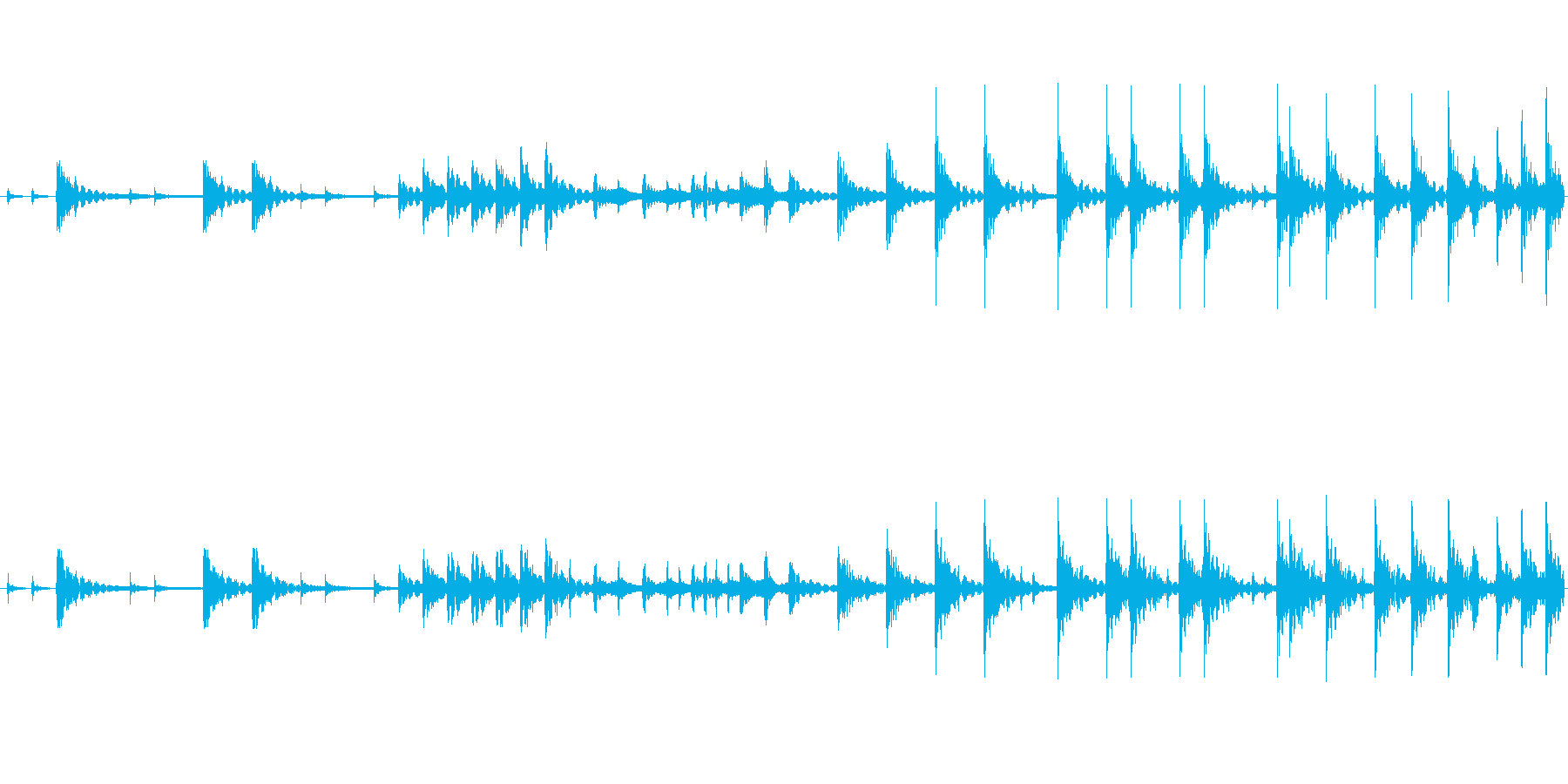 和太鼓のみのリバーブなしのループ音源バ…の再生済みの波形