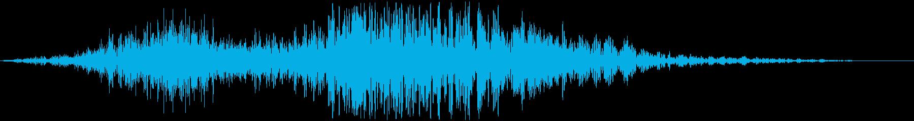 WHOOSH_06 ヒューッドンッ・・の再生済みの波形