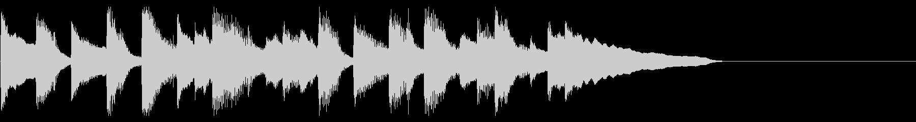 ほのぼのした可愛いピコピコ音のジングルの未再生の波形