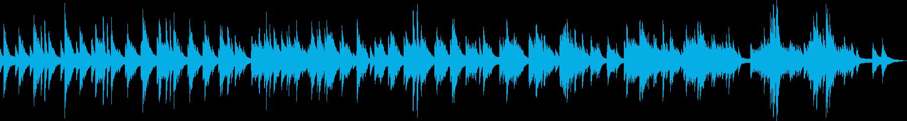 暖かくて美しいピアノバラード(独奏)の再生済みの波形