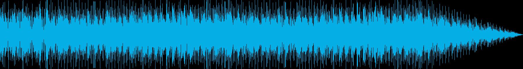 レトロアクションゲーム風ロックBGMの再生済みの波形