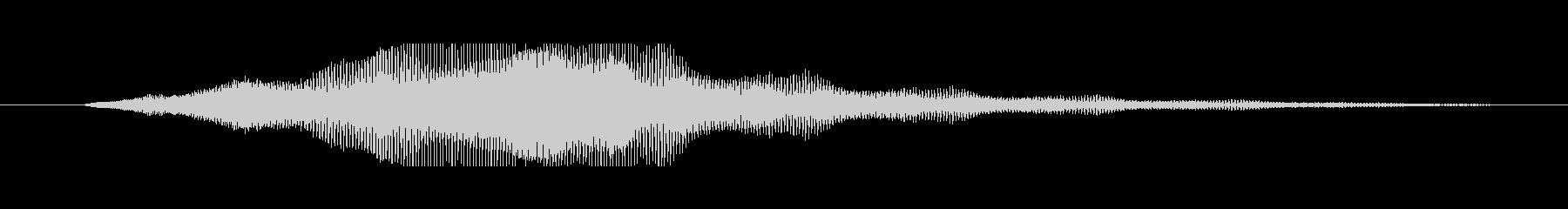 タイトルロゴ表示のイメージ音の未再生の波形