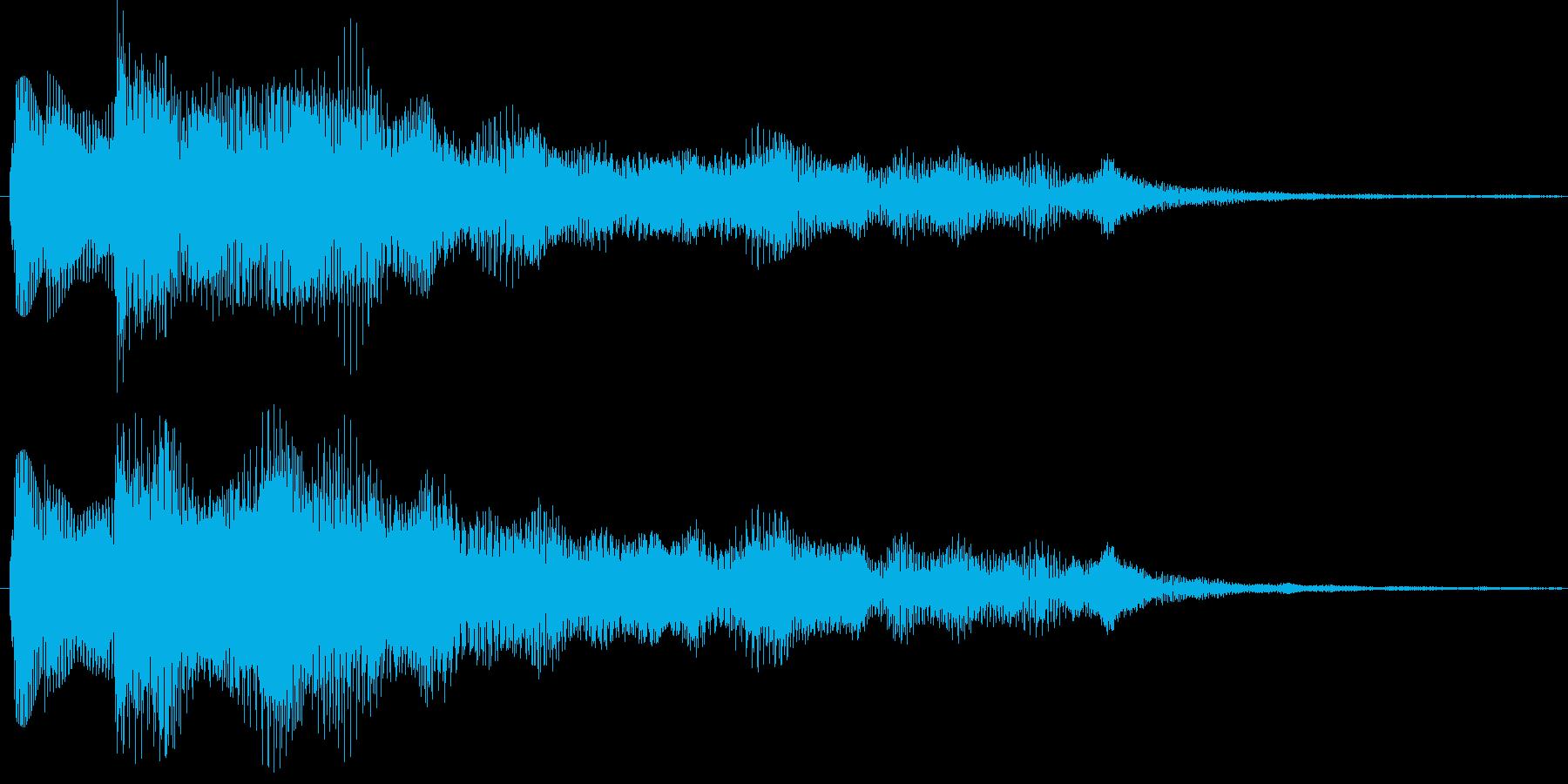 ぴろりーん(通知音) ver.DXの再生済みの波形