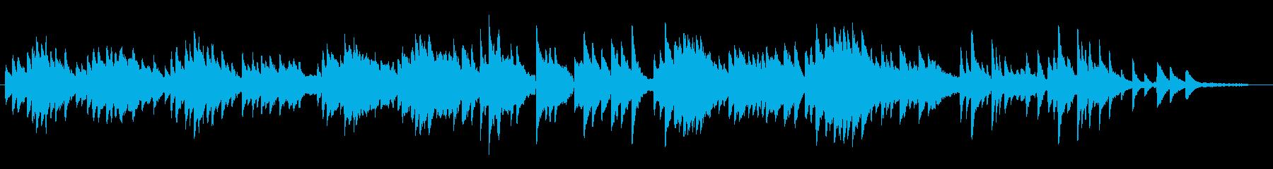 ほのぼのするピアノソロの再生済みの波形
