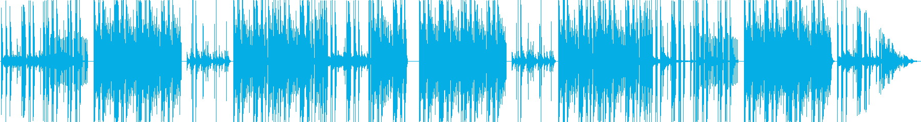 錫杖が入った和風ホラータイプビートの再生済みの波形