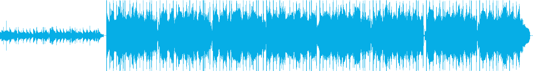 ベースでしっとりLo-Fiチルな楽曲の再生済みの波形