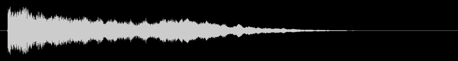 神秘的で透明感のあるインパクト音4の未再生の波形