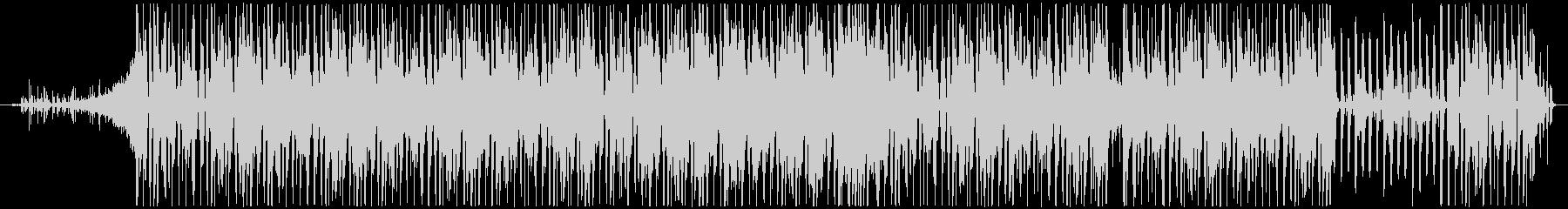 跳ねるリズムが特徴的なテクノポップの未再生の波形
