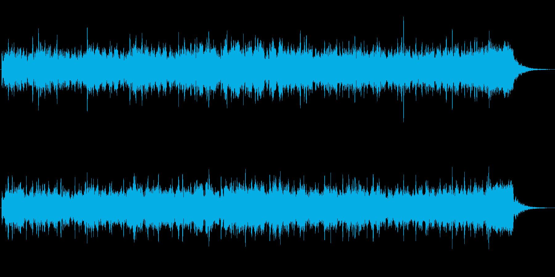 オルガンとシンセのかわいいジングルの再生済みの波形