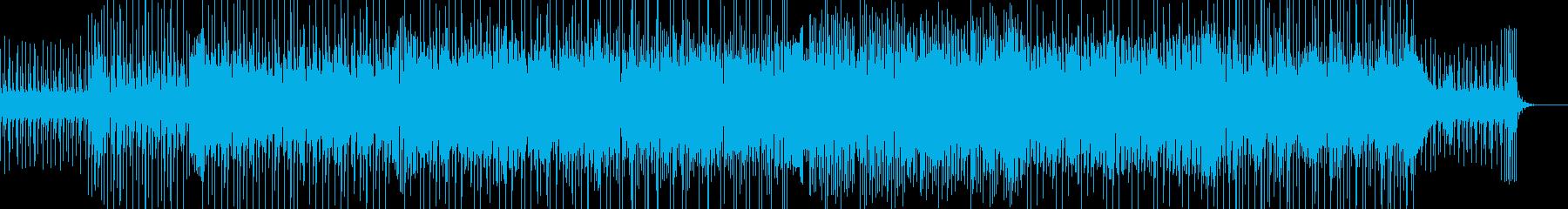 ほのぼのするリズムとメロディが印象的な曲の再生済みの波形