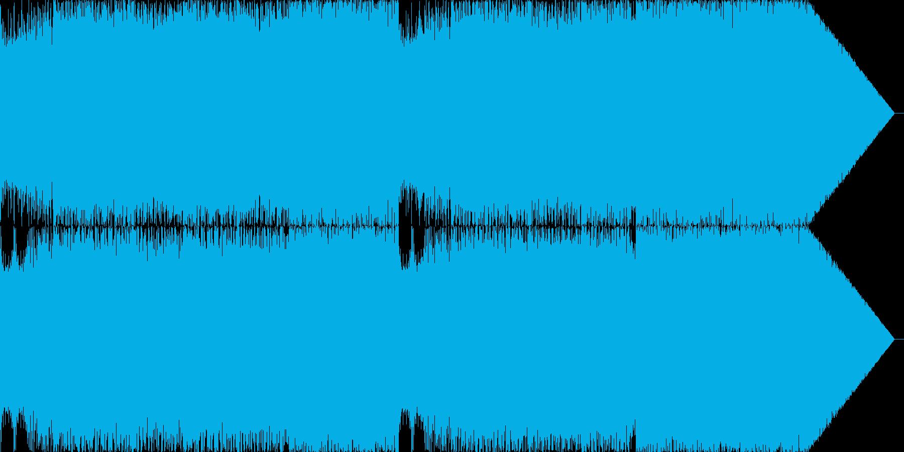 メタル、ハードロック、ポップオーバ...の再生済みの波形