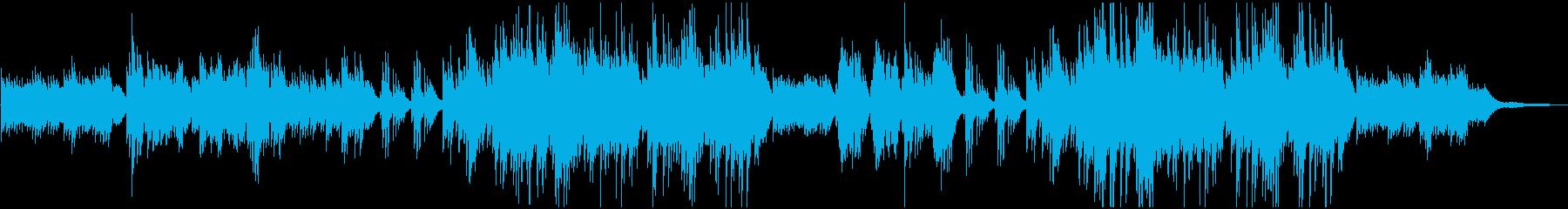 悲哀のある切ないピアノワルツの再生済みの波形