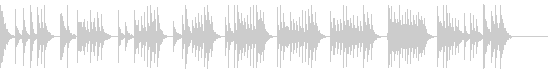 「通りゃんせ」三味線ソロの未再生の波形