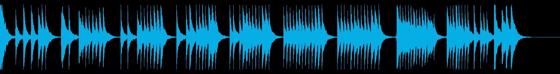 「通りゃんせ」三味線ソロの再生済みの波形