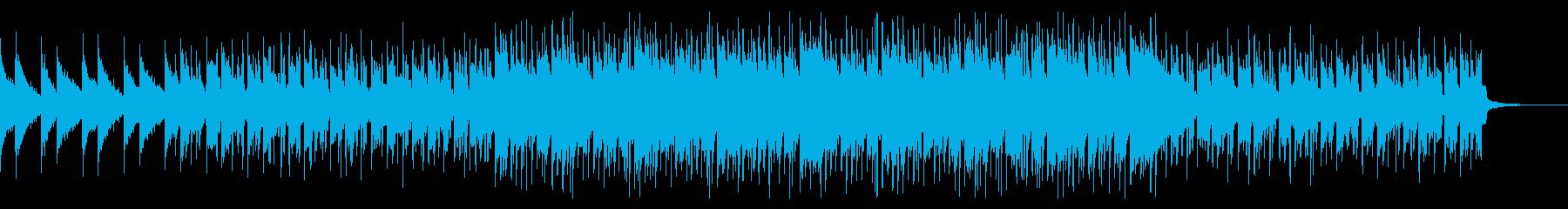 ほのぼのした雰囲気のシンセポップスの再生済みの波形