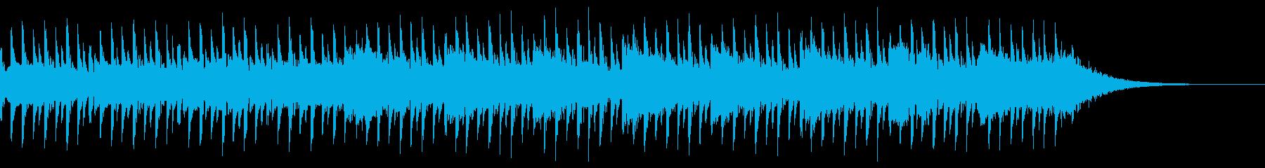インタビューの背景(30秒)の再生済みの波形