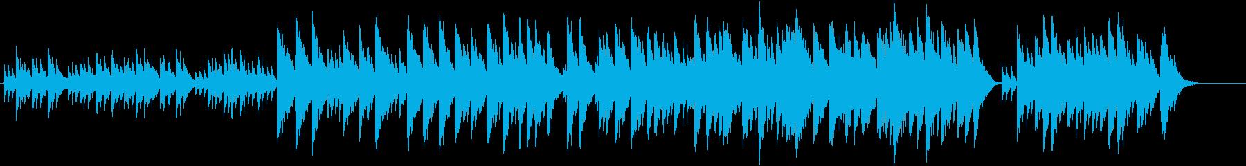 静かで感動的なオルゴール曲の再生済みの波形