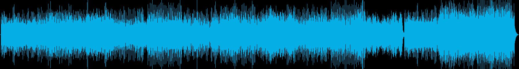 爽やか男性ボーカルのトロピカルハウスの再生済みの波形