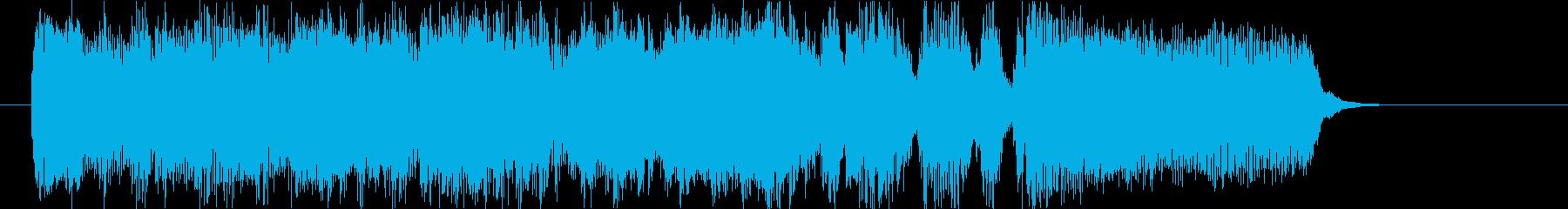 ビッグバンドのジングルの再生済みの波形