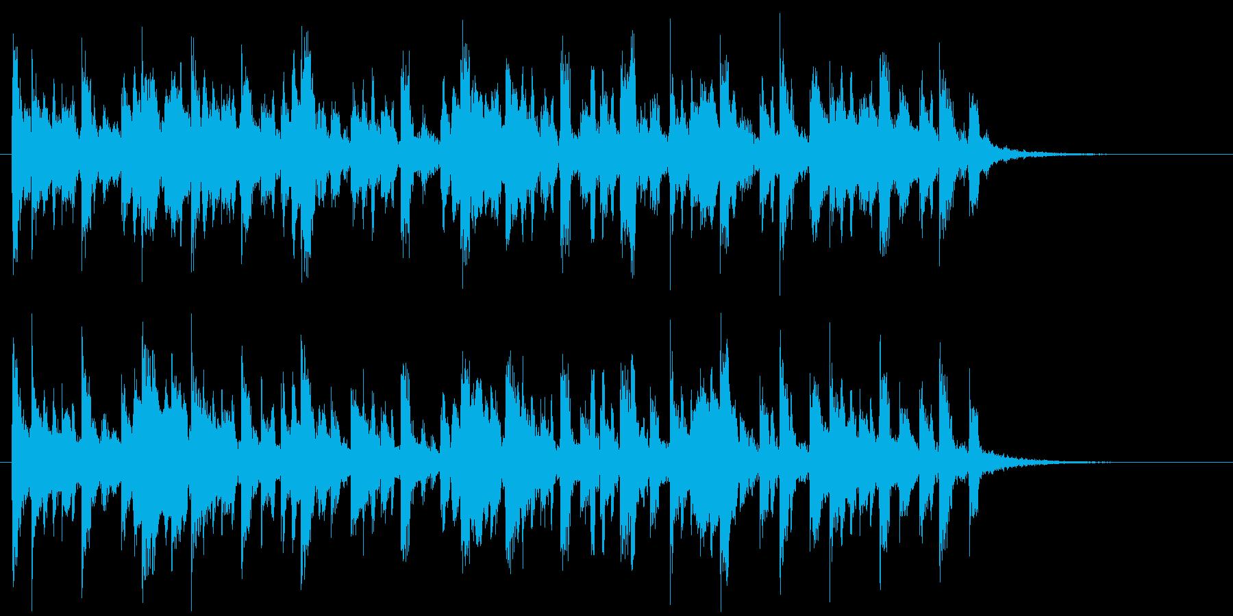 緩やかでリズミカルなアコギジングルの再生済みの波形