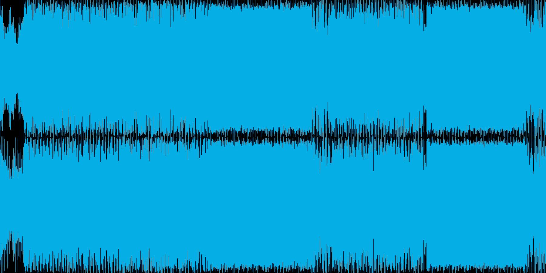 ファンタジーゲームの雪原フィールド曲などの再生済みの波形