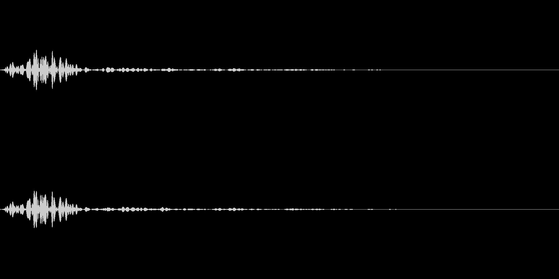 アイコン出現音(ボッ・ボンッ)の未再生の波形