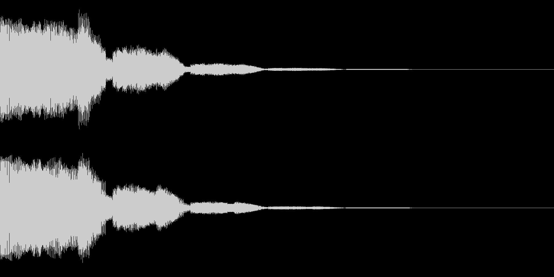 はっきりしたプインというかわいい音です。の未再生の波形