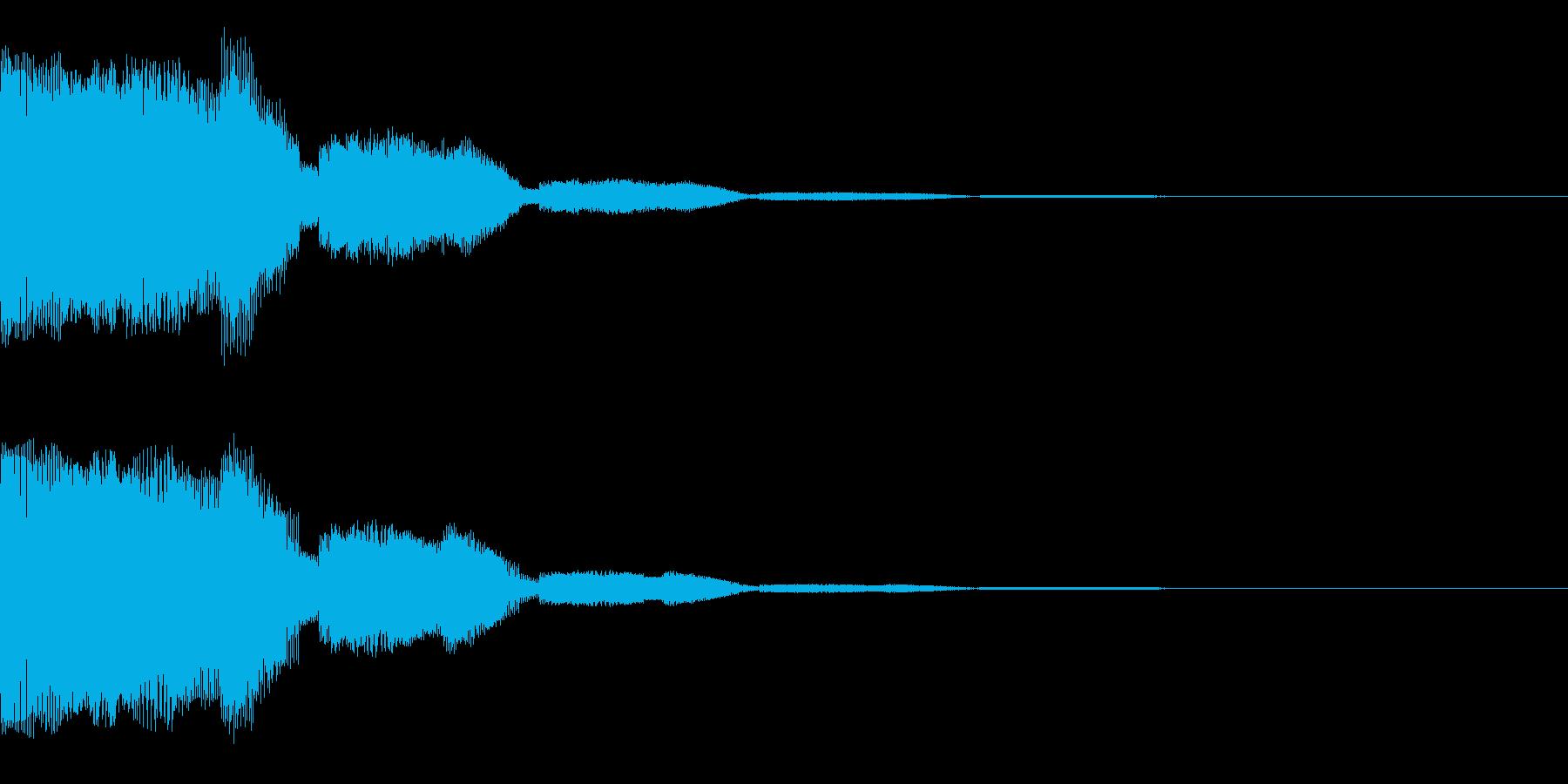 はっきりしたプインというかわいい音です。の再生済みの波形