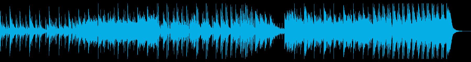 ピアノ・オルガン・雨音の温シティポップの再生済みの波形