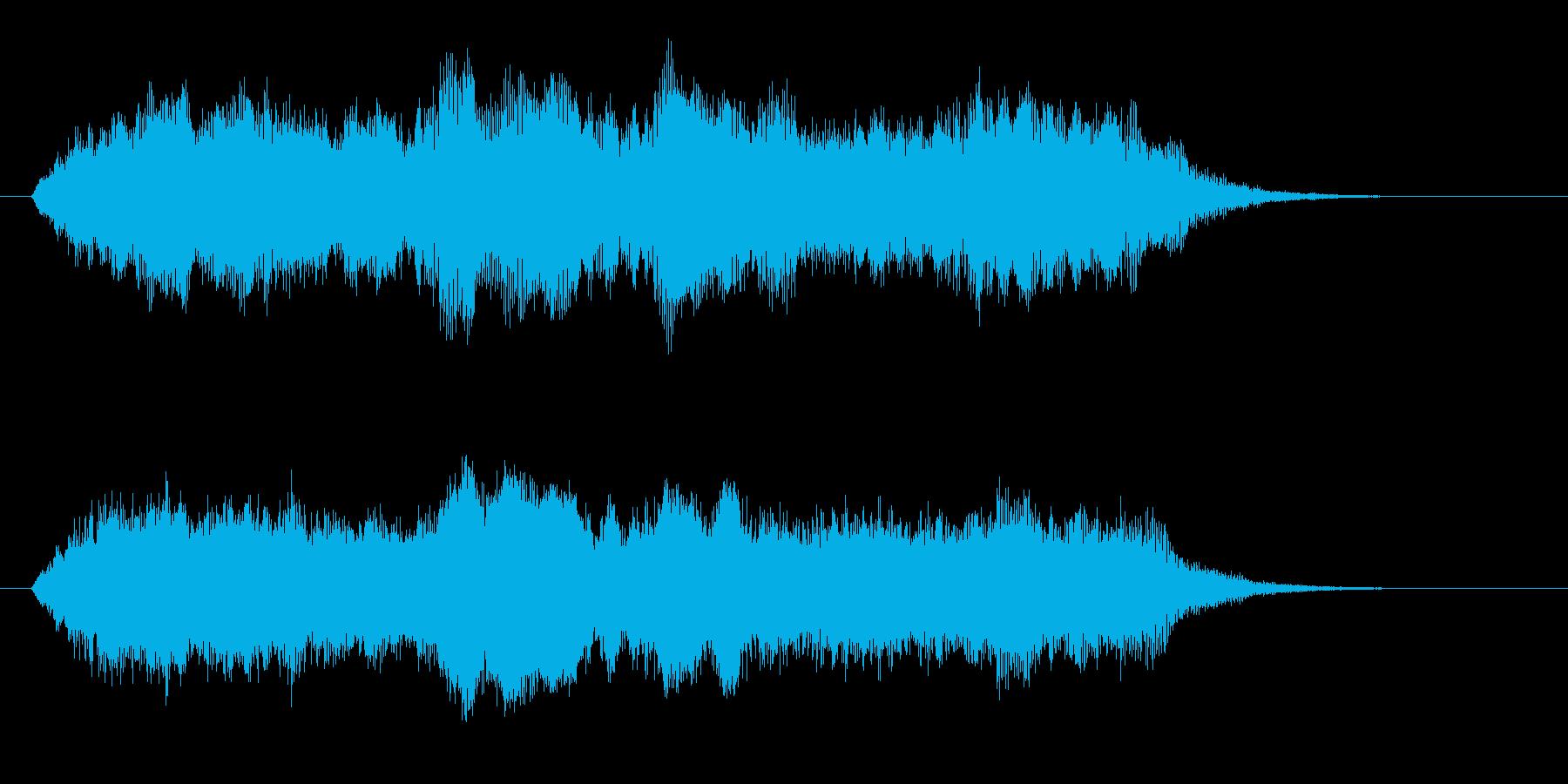 壮大でキレイなリラクゼーション音楽の再生済みの波形