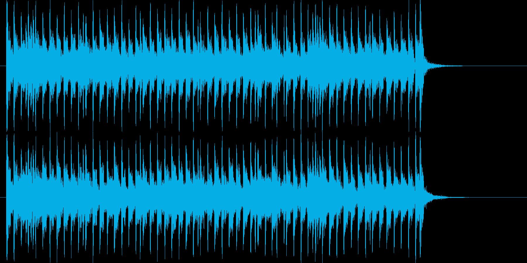 ギターがロックでアップテンポなジングルの再生済みの波形