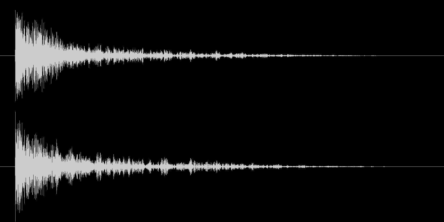 恐怖音3の未再生の波形