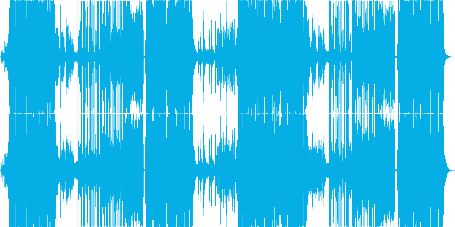 切ないFUTURE BASSの再生済みの波形