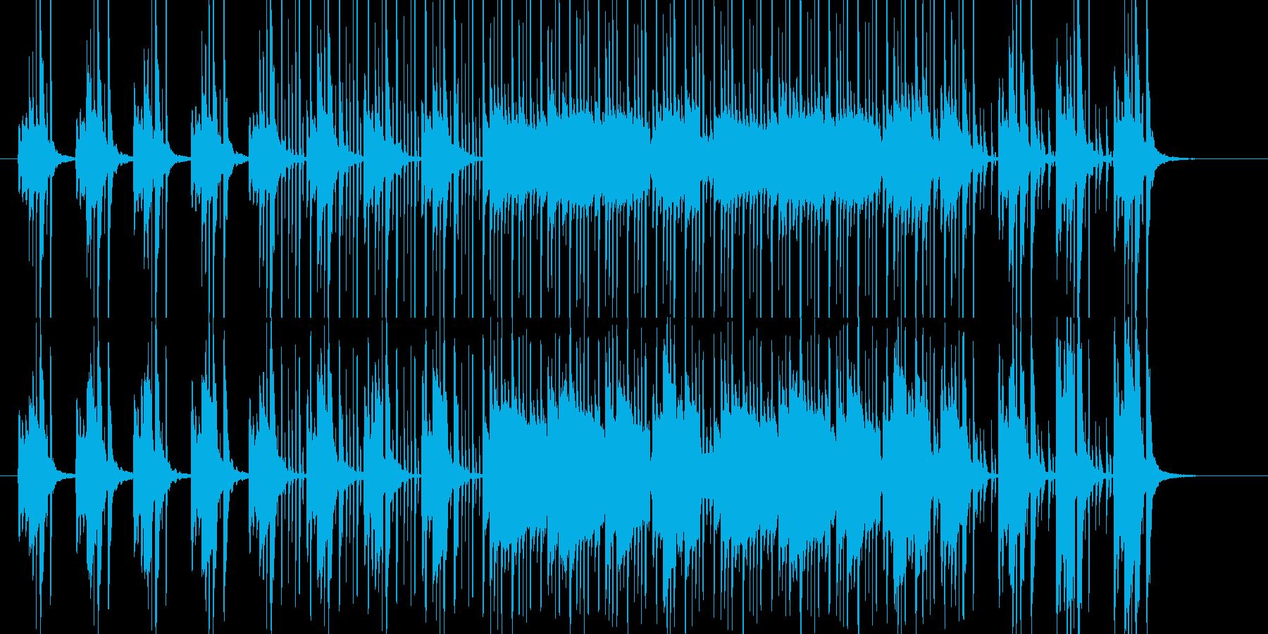 朝の爽やかなイメージに会うBGMの再生済みの波形