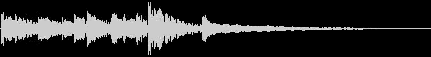 ピアノ効果音 オープニング 優しいの未再生の波形