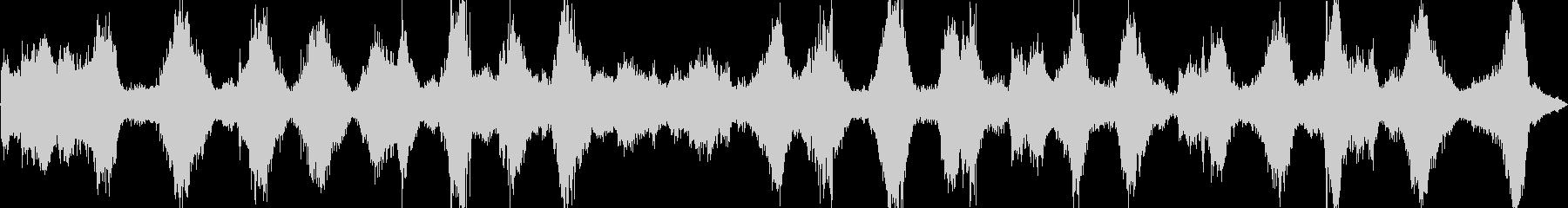 海、激しい波の音(バイノーラル録音)の未再生の波形