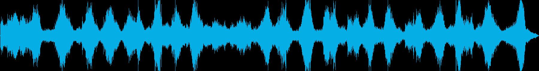 海、激しい波の音(バイノーラル録音)の再生済みの波形