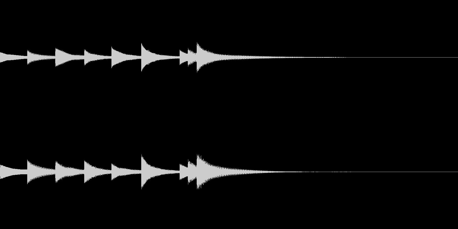 爽やかなベルの音が印象的なジングルの未再生の波形