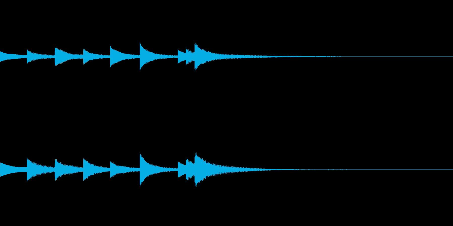 爽やかなベルの音が印象的なジングルの再生済みの波形
