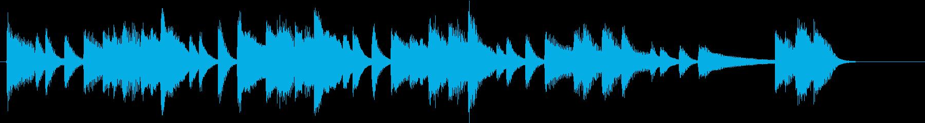 こぶしを効かせた民謡演歌風ピアノジングルの再生済みの波形
