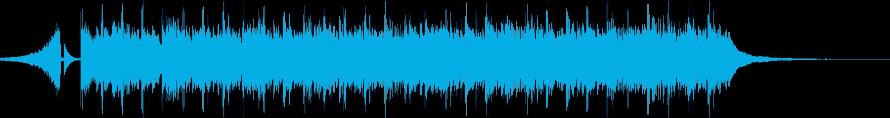 予告などに使えるポップなシンセの短い曲の再生済みの波形
