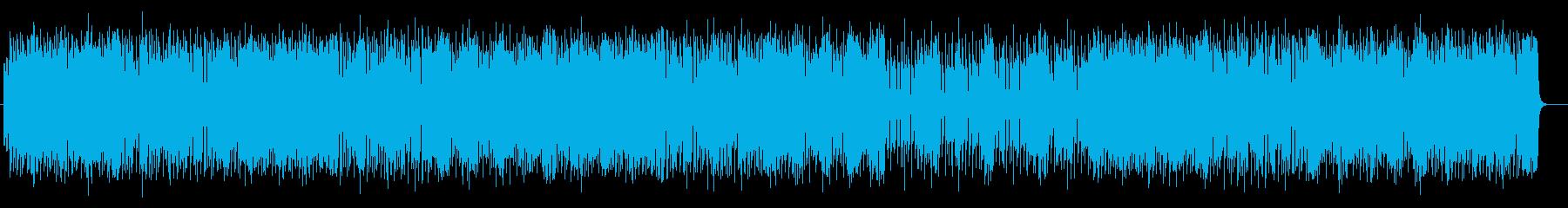 ポップで明るいミュージックの再生済みの波形