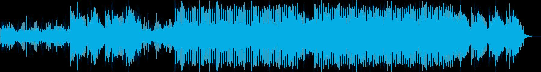 シリアス、クール、スタイリッシュBGMの再生済みの波形