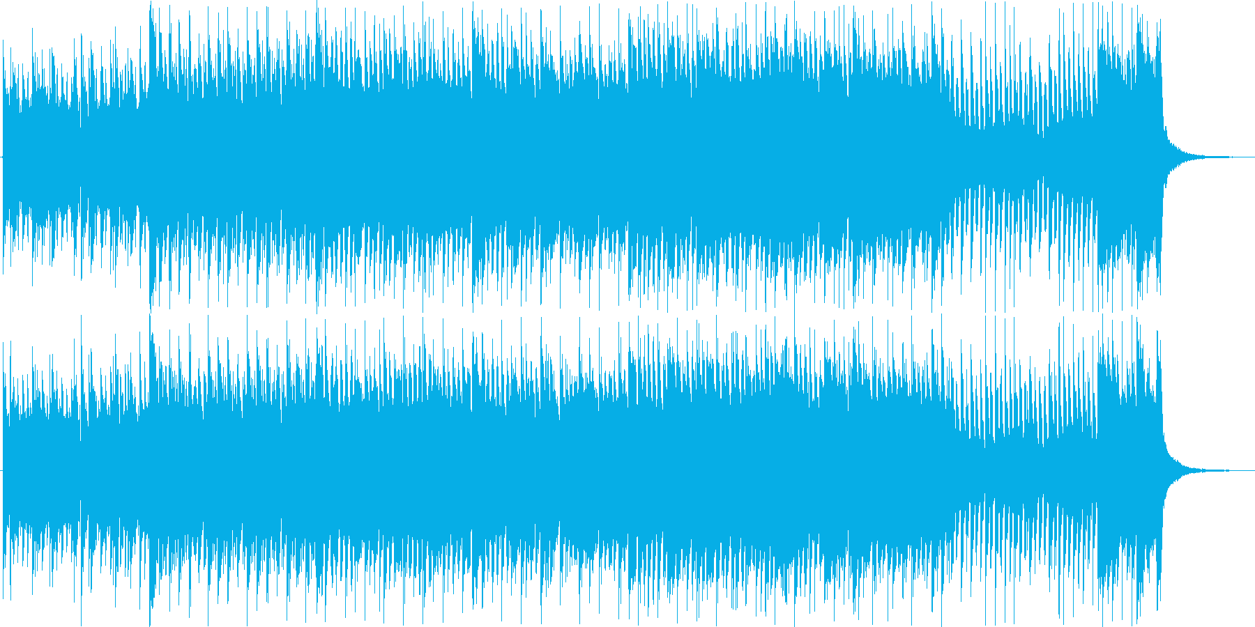 三味線とギター混ぜた曲です。の再生済みの波形