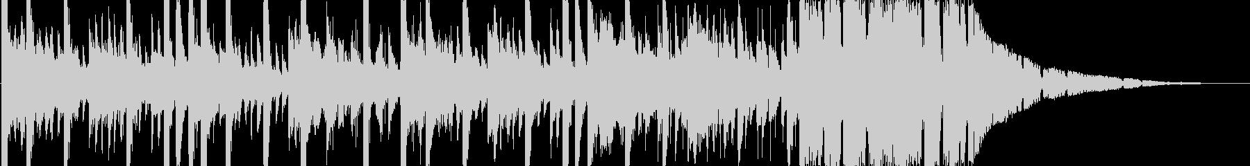 攻撃的なパワフルエレクトロニカBGMの未再生の波形